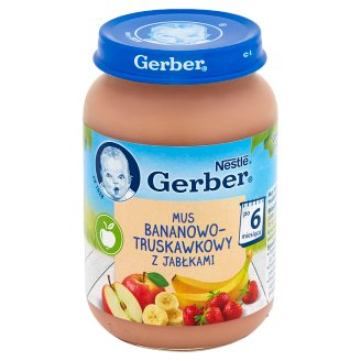 Gerber Banana-Strawberry Mousse with Apples after 6 Months Onwards 190 g