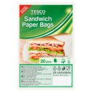 Tesco Sandwich Paper Bags 20 Pieces