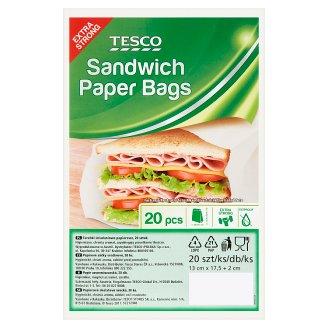 Tesco Sandwich Paper Bags 20 Pieces