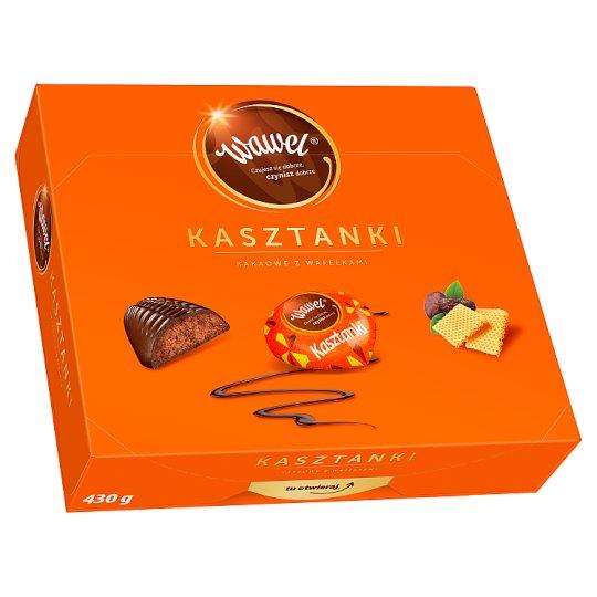 Wawel Kasztanki Cocoa with Wafers Filled Chocolates 430 g