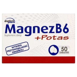 Euruspharm Magnesium B6 + Potassium Dietary Supplement 50 Tablets