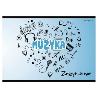 Top 2000 Zeszyt do nut B5 szeroka linia 16 kartek