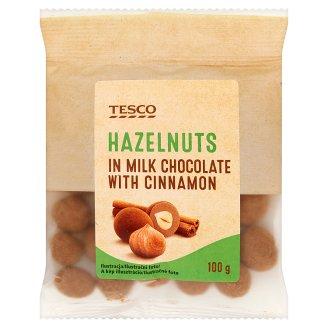 Tesco Orzechy laskowe w czekoladzie mlecznej i cynamonie 100 g