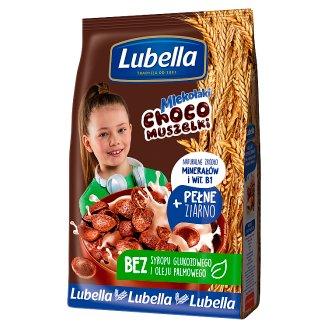 Lubella Mlekołaki Choco Muszelki Zbożowe muszelki o smaku czekoladowym 500 g
