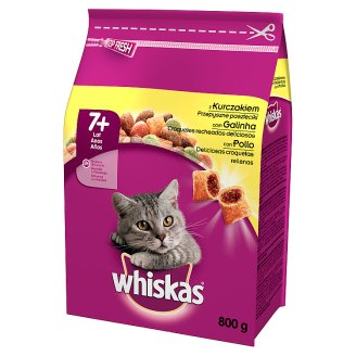 Whiskas Complete Cat Food Delicious Pasty with Chicken 7+ Year 800 g
