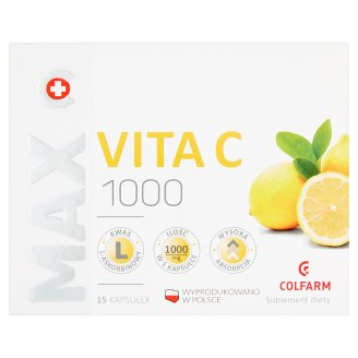 Colfarm Max Vita C 1000 Dietary Supplement 14 g (15 Capsules)