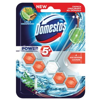 Domestos Power 5+ Lime & Cedarwood Toilet Block 55 g