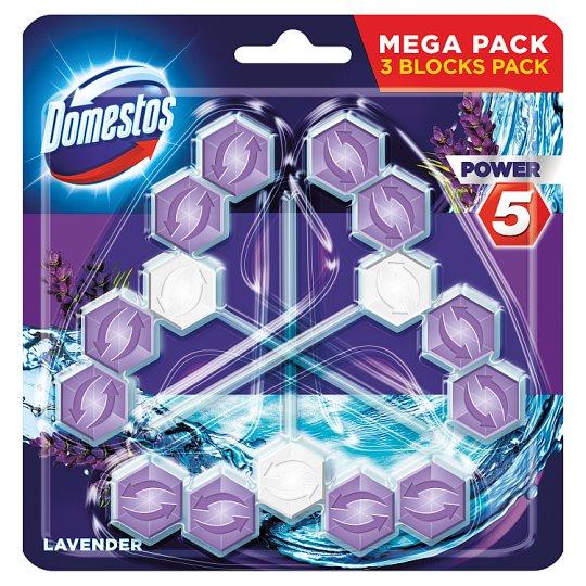 Domestos Power 5 Lavender Toilet Block 3 x 55 g