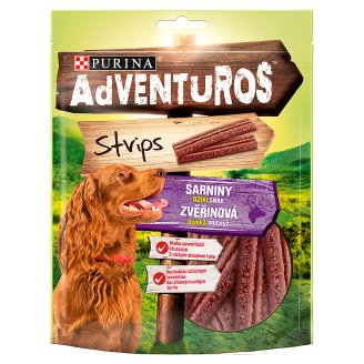 Adventuros Strips Venison Flavour Complementary Food for Adult Dogs 90 g