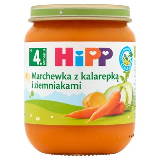 HiPP BIO Carrot with Kohlrabi and Potatoes after 4 Months Onwards 125 g