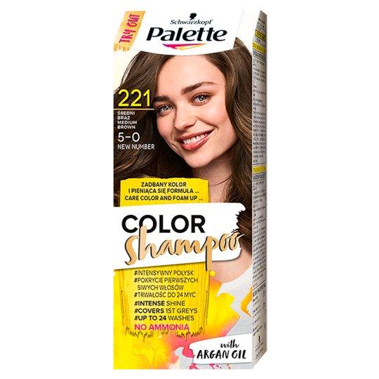 Palette Color Shampoo Coloring Shampoo Medium Brown 221