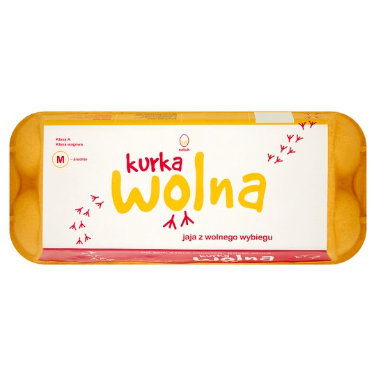 Kurka Wolna Free-Range Eggs M 10 Pieces