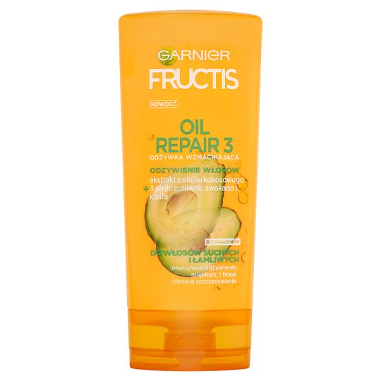 Garnier Fructis Oil Repair 3 Strengthening Conditioner for Dry and Brittle Hair 200 ml