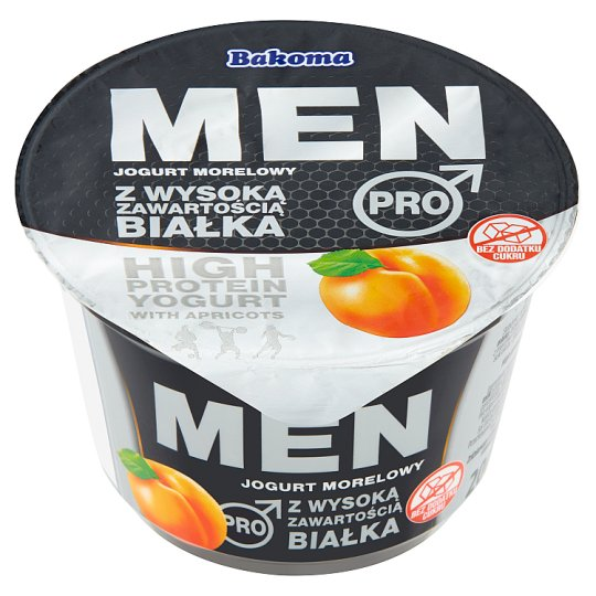 Bakoma Men Pro High Protein with Apricots Yogurt 200 g