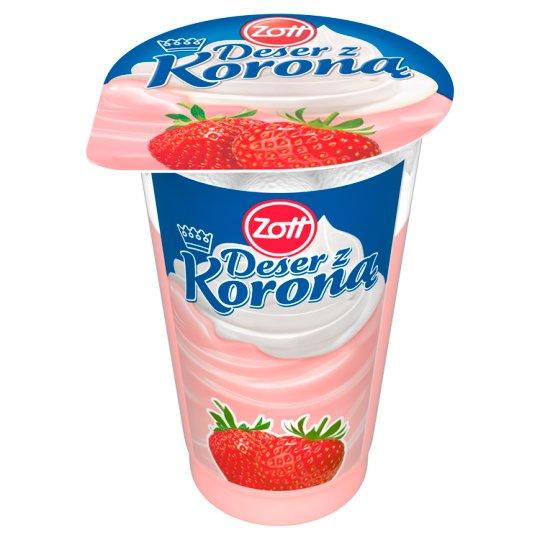 Zott Deser z Koroną Strawberry Flavoured Dessert with Whipped Cream 175 g