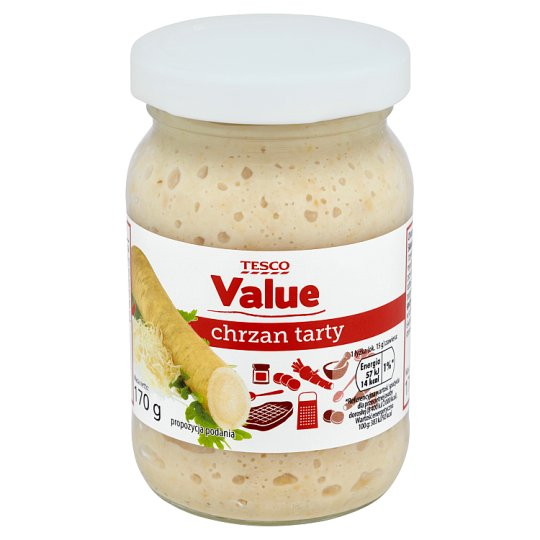 Tesco Value Grated Horseradish 170 g