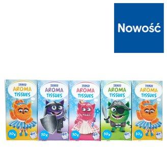 Tesco Kids Chusteczki higieniczne zapachowe 4-warstwowe 10 x 10 sztuk
