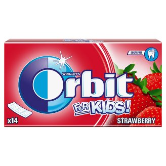 Orbit For Kids Sugarfree Strawberry Flavour Bubble Gum 27 g (14 Pieces)