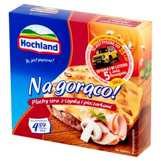 Hochland Na gorąco! Ham and Mushrooms Cheese Slices 144 g