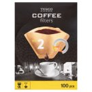Tesco Size 2 Coffee Filters 100 Pieces