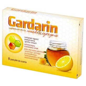 Gardarin Miód & cytryna Pastylki do ssania Suplement diety 28 g (8 sztuk)