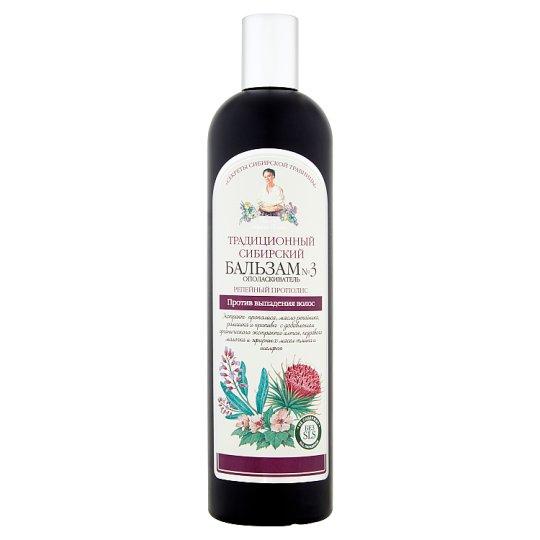 Tradycyjny syberyjski balsam odżywczy nr 3 łopianowy propolis przeciw wypadaniu włosów 550 ml