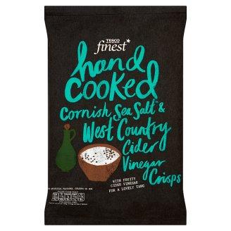 Tesco Finest Hand Cooked Cornish Sea Salt & West Country Cider Vinegar Crisps 150 g