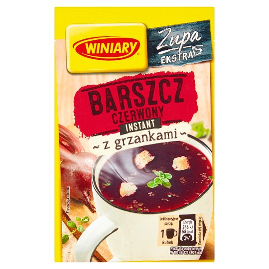 Winiary Smaczna zupa Red Borscht with Croutons 16 g