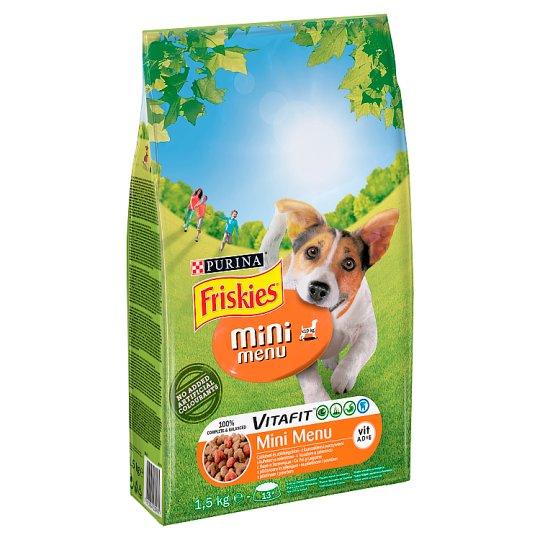Friskies Vitafit Mini Menu Karma dla psów z kurczakiem i warzywami 1,5 kg