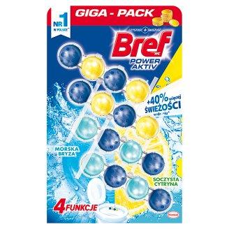 Bref WC Power Aktiv Juicy Lemon+Sea Breeze Toilet Rim Block 4 x 50 g