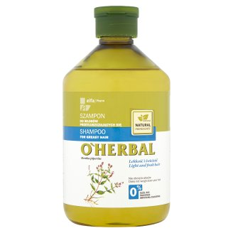 O'Herbal Shampoo for Greasy Hair with Mint Extract 500 ml