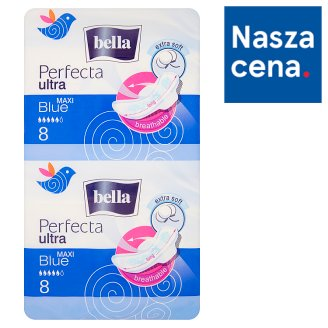 Bella Perfecta Ultra Maxi Blue Sanitary Pads 16 Pieces