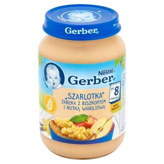 """Gerber """"Szarlotka"""" jabłka z biszkoptem i nutką waniliową po 8 miesiącu 190 g"""