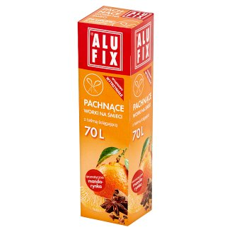 Alufix 70 L Aromatic Mandarin Scented Garbage Bags 8 Pieces