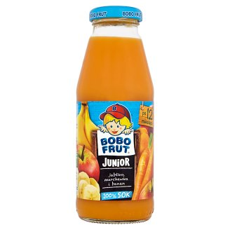 Bobo Frut Junior 100% Juice Apple Carrot and Banana after 12 Months Onwards 300 ml