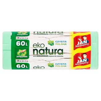 Jan Niezbędny Eko natura Degradable Garbage Bags 60 L 20 Pieces
