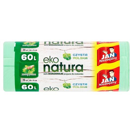 Jan Niezbędny Eko natura Degradable Garbage Bags 60 L 20 Pieces