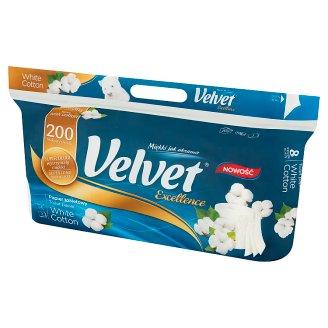 Velvet Excellence White Elegance Toilet Paper 8 Rolls