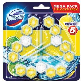 Domestos Power 5 Lime Toilet Block 3 x 55 g