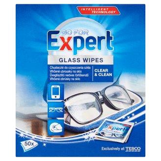Go for Expert Chusteczki do czyszczenia szkła 50 sztuk