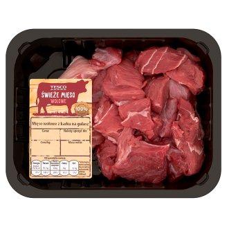 Tesco Mięso wołowe z karku na gulasz 400 g