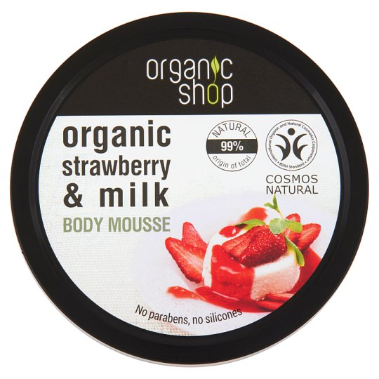 Organic Shop Truskawkowy jogurt Mus do ciała 250 ml