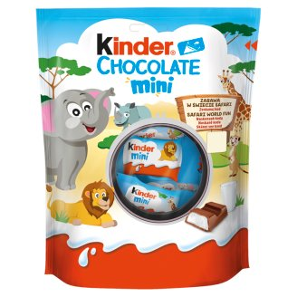 Kinder Chocolate Mini Milk Chocolate Bar with Milk Filling 120 g