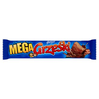 Grześki Mega Chocolate-Coated Wafer Bar with Cocoa Cream 48 g