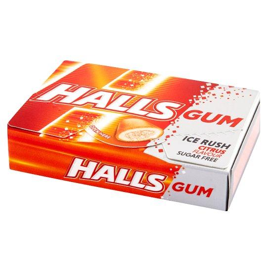 Halls Gum Ice Rush Citrus Flavour Sugar Free Gum 18 g