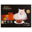 Tesco Pet Specialist Premium Chunks in Gravy Food for Adult Cats 12 x 85 g