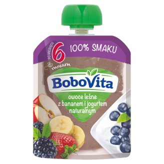BoboVita Forest Fruits with Banana and Natural Yoghurt after 6 Months Onwards 80 g