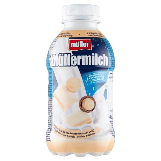 Müller Müllermilch White Choco Macadamia Flavoured Milk Drink 400 g