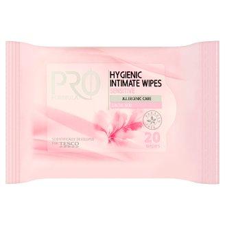 Tesco Pro Formula Chusteczki do higieny intymnej do skóry wrażliwej 20 sztuk