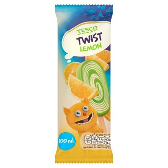 Tesco Twist Lemon Creamy Flavour Ice Cream and Lemon Water Ice 100 ml